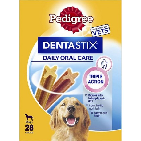 PEDIGREE DENTA STIX  MULTIPACK  LARGE 25+  4 X 270GR DENTASTIX